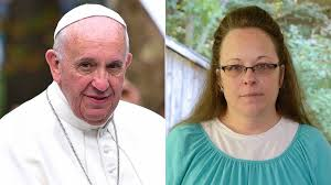 Pope Francis and Kim Davis